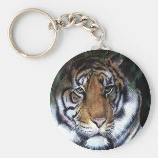 Porte - clé de peinture de tigre porte-clés