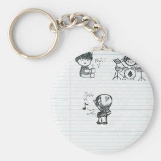 Porte - clé de personnes de chat porte-clé rond