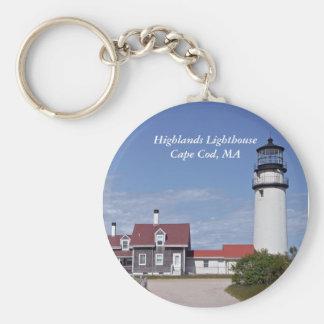 Porte - clé de phare de Cape Cod Porte-clé Rond