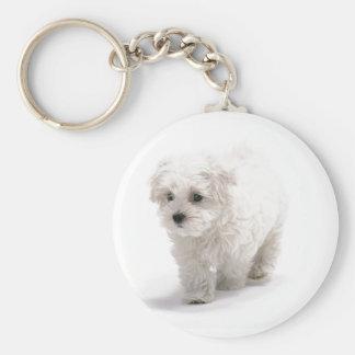 Porte - clé de photo de Bichon Frise Porte-clés