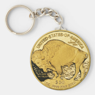 Porte - clé de pièce d'or porte-clé rond
