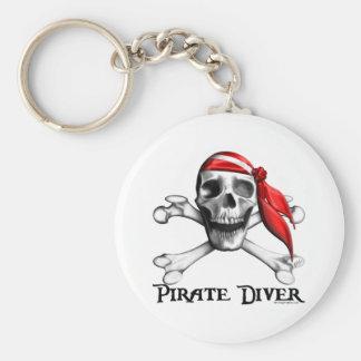 Porte - clé de plongeur de pirate porte-clé rond