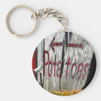 Porte - clé de pommes de terre porte-clé rond