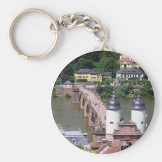 Porte - clé de pont d'Heidelberg Porte-clé Rond