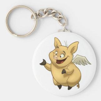Porte - clé de porc de vol porte-clés