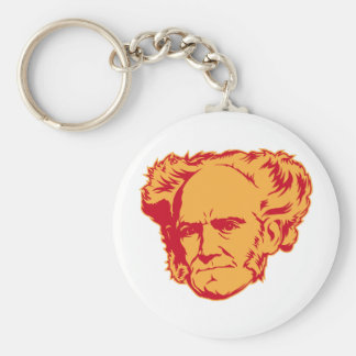 Porte - clé de portrait de Schopenhauer Porte-clé Rond