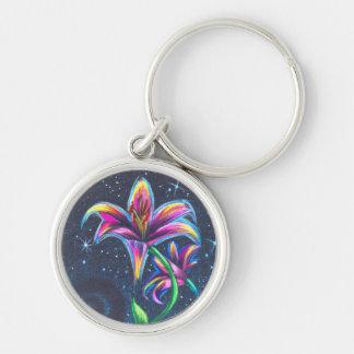 Porte - clé de Prismaflower Lily-1 Porte-clé Rond Argenté
