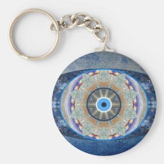 """Porte - clé de protection """"d'oeil mauvais"""" porte-clé rond"""