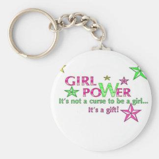 porte - clé de puissance de fille porte-clé rond