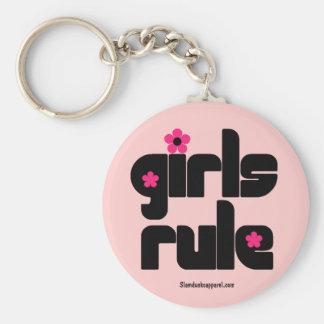 Porte - clé de règle de filles porte-clé rond