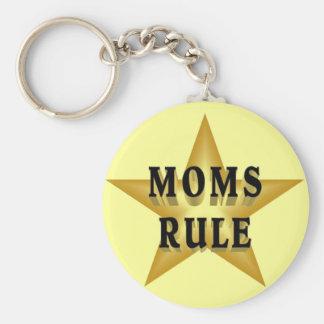 Porte - clé de règle de mamans porte-clé rond