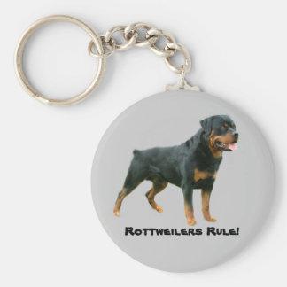 Porte - clé de règle de rottweilers porte-clés