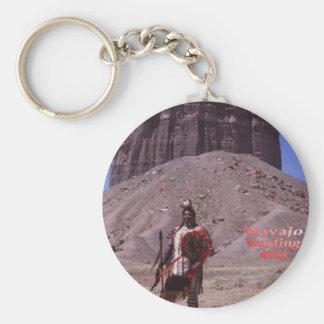 porte - clé de robe de chasse de Navajo Porte-clé Rond