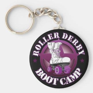 Porte - clé de RollerDerbyBootCamp de SSRD Porte-clé Rond