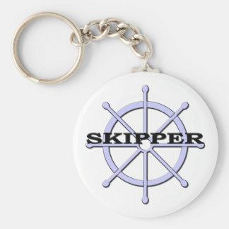 Porte - clé de roue de bateau de capitaine porte-clé rond