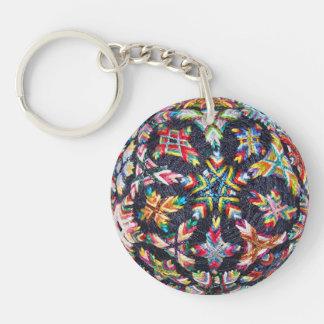 Porte - clé de Sakasa Temari de peu, acrylique Porte-clé Rond En Acrylique Une Face