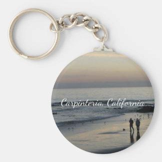 Porte - clé de scène de plage de la Californie Porte-clé Rond