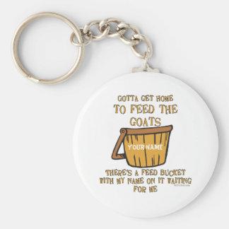 Porte - clé de seau d'alimentation de chèvre porte-clé rond
