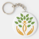 Porte - clé de semaine de médecine de naturopathiq porte-clé rond