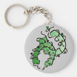Porte - clé de shamrocks des fers à cheval de St Porte-clef