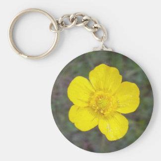 Porte - clé de soleil bonjour porte-clé rond