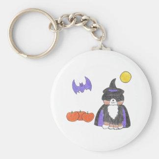 Porte - clé de sorcière de chien de montagne de porte-clé rond