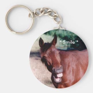 Porte - clé de sourire de cheval de Standardbred Porte-clé Rond