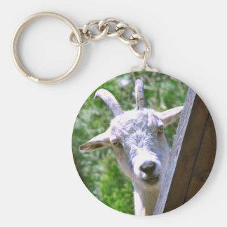 Porte - clé de sourire de chèvre porte-clé rond