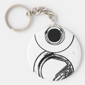 Porte - clé de sousaphone porte-clé rond