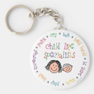 Porte - clé de spécialistes en vie d'enfant porte-clé rond