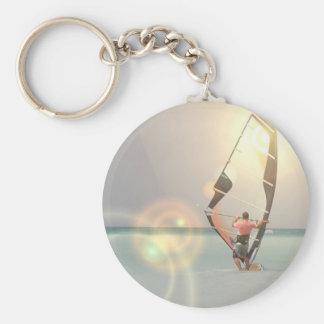 Porte - clé de sport de planche à voile porte-clé rond