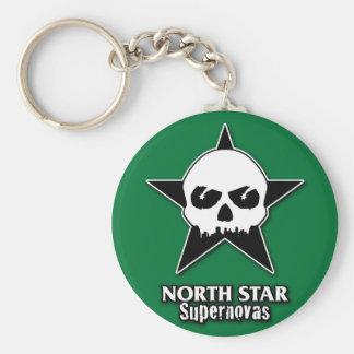 Porte - clé de supernovas de filles de rouleau porte-clé rond