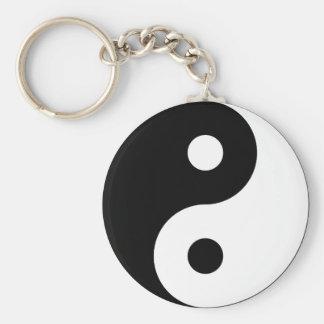 Porte - clé de symbole de Yin Yang Porte-clé Rond