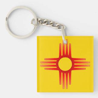 Porte - clé de symbole de Zia Sun Porte-clé Carré En Acrylique Double Face