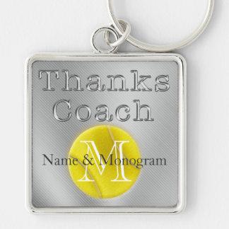 Porte - clé de tennis d'entraîneur de mercis de porte-clés