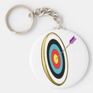 Porte - clé de tir à l'arc porte-clé rond