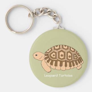 Porte - clé de tortue de léopard de bébé (vert) porte-clé rond