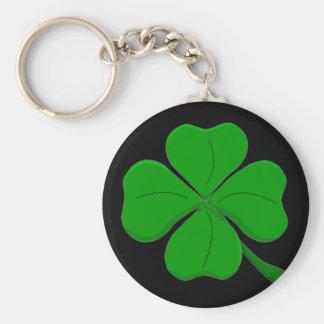 Porte - clé de trèfle de quatre feuilles porte-clé rond