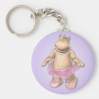 Porte - clé de tutu d'hippopotame porte-clé rond