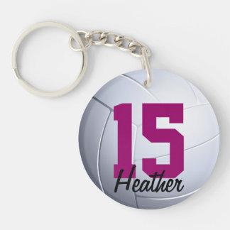 Porte - clé de volleyball porte-clé rond en acrylique double face