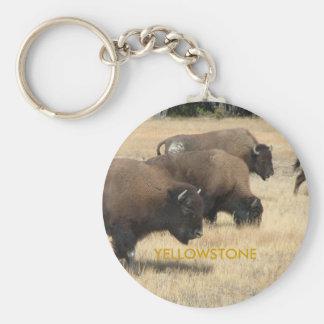 Porte - clé de Yellowstone de Buffalo Porte-clé Rond