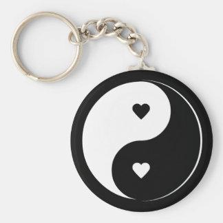 Porte - clé de Yin Yang d'amour Porte-clé Rond