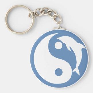 Porte - clé de Yin Yang de dauphin Porte-clés