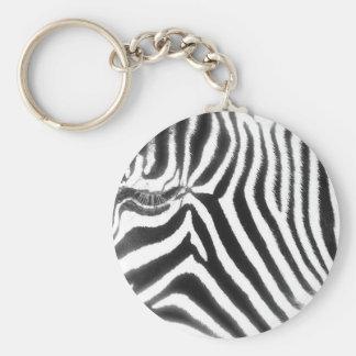 Porte - clé de zèbre porte-clé rond