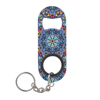 Porte-clé Décapsuleur Ouvreurs de bouteille en pierre   de kaléidoscope