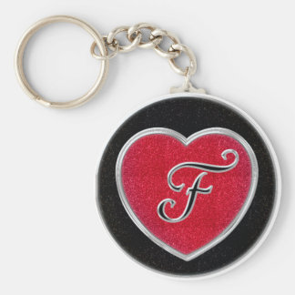 Porte - clé décoré d'un monogramme de coeur de porte-clés