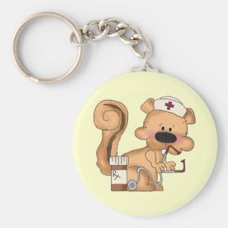 Porte - clé d'écureuil d'infirmière porte-clé rond