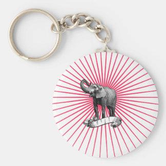 Porte - clé d'éléphant de cirque porte-clé rond