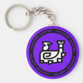 porte - clé d'emblème de klaxon de chasse porte-clé rond