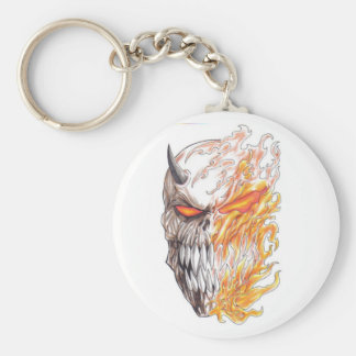 Porte - clé démoniaque de dessin de tête d'art porte-clés